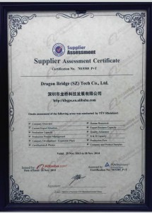 Supplier assessmentcertificate