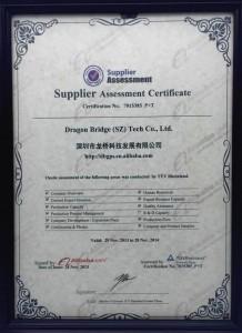 Supplier assessmentcertificate