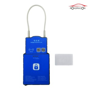 Smart anti-theft gps padlock real time monitoring wireless lock for container tracking